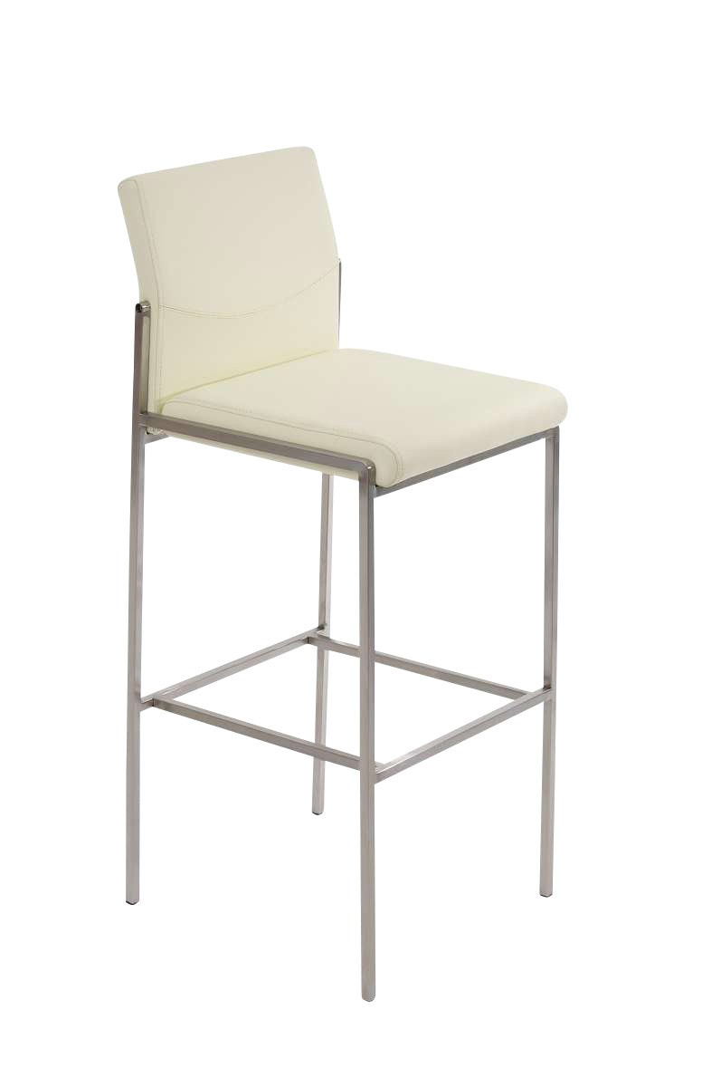 Bar Stool Torino Faux Leather Stainless Steel Kitchen Barstools New Ebay