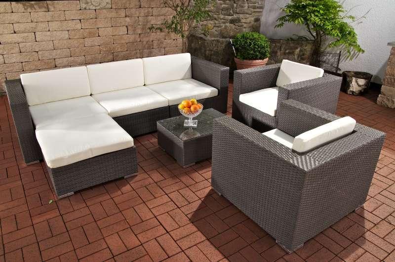 polyrattan gartenmöbel ebay: poly rattan sitzgruppe design, Garten und Bauen