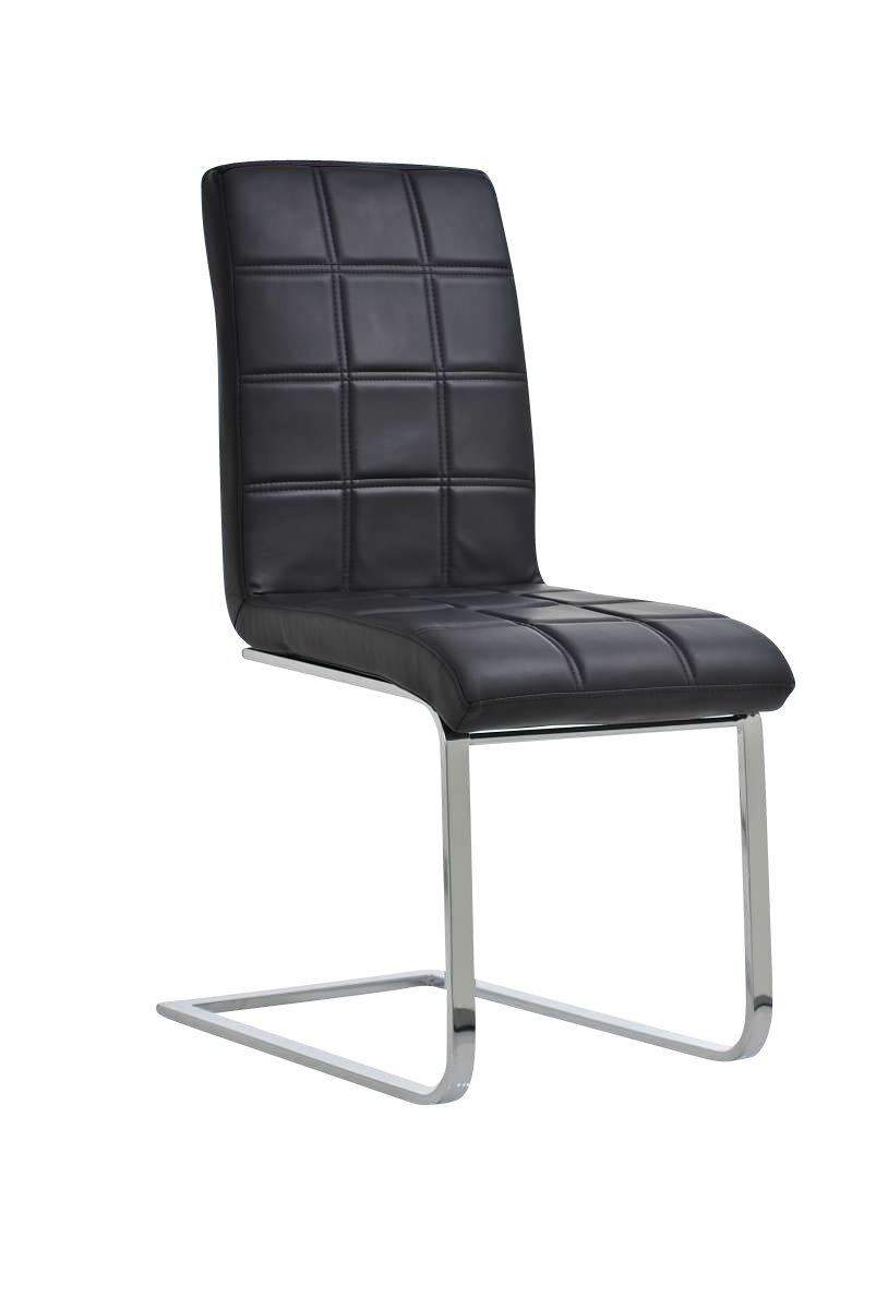 design dining chair emily conference waiting room faux leather chrome colours ebay. Black Bedroom Furniture Sets. Home Design Ideas