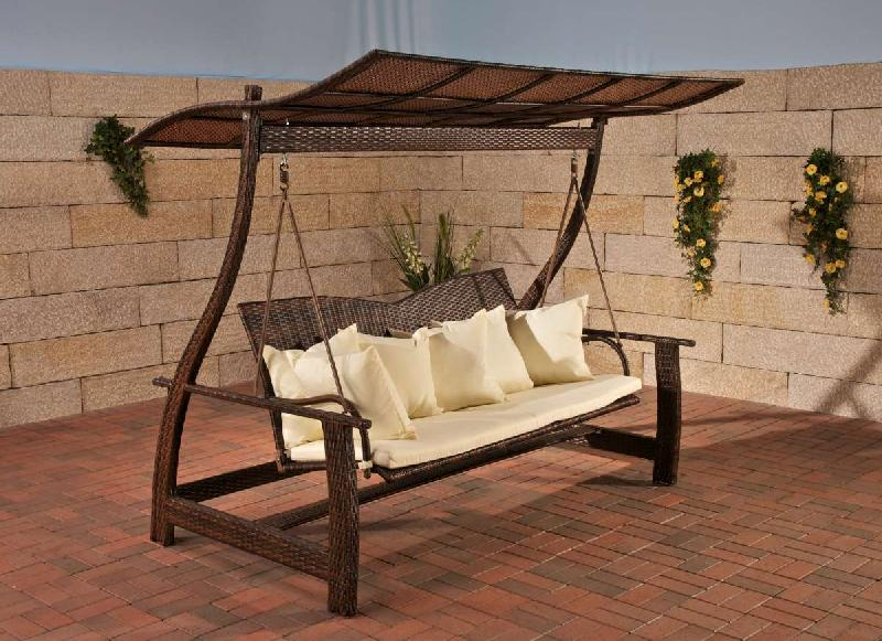 hollywoodschaukel rattan polyrattan