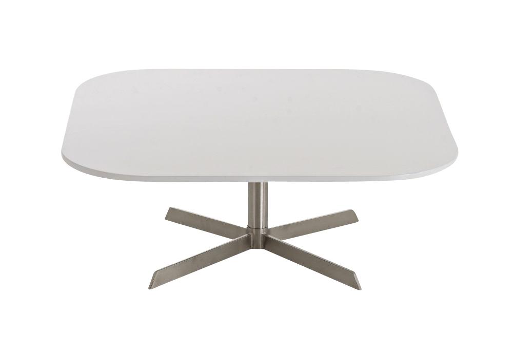 Tisch ankara couchtisch holz edelstahl design for Beistelltisch edelstahl holz