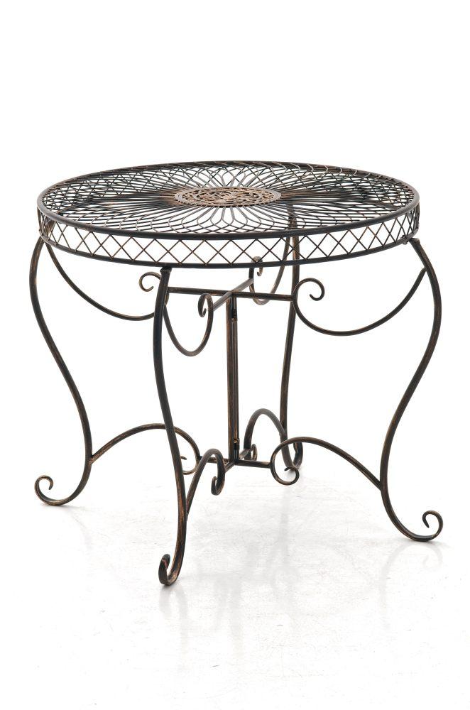 Table jardin SHEELA ronde romantique métal classique vintage ...