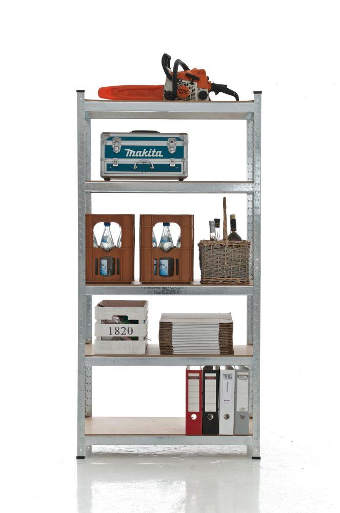 Estante estanteria metalica para garaje trasteros casa 180x90x40 baldas madera - Estanterias para garaje ...