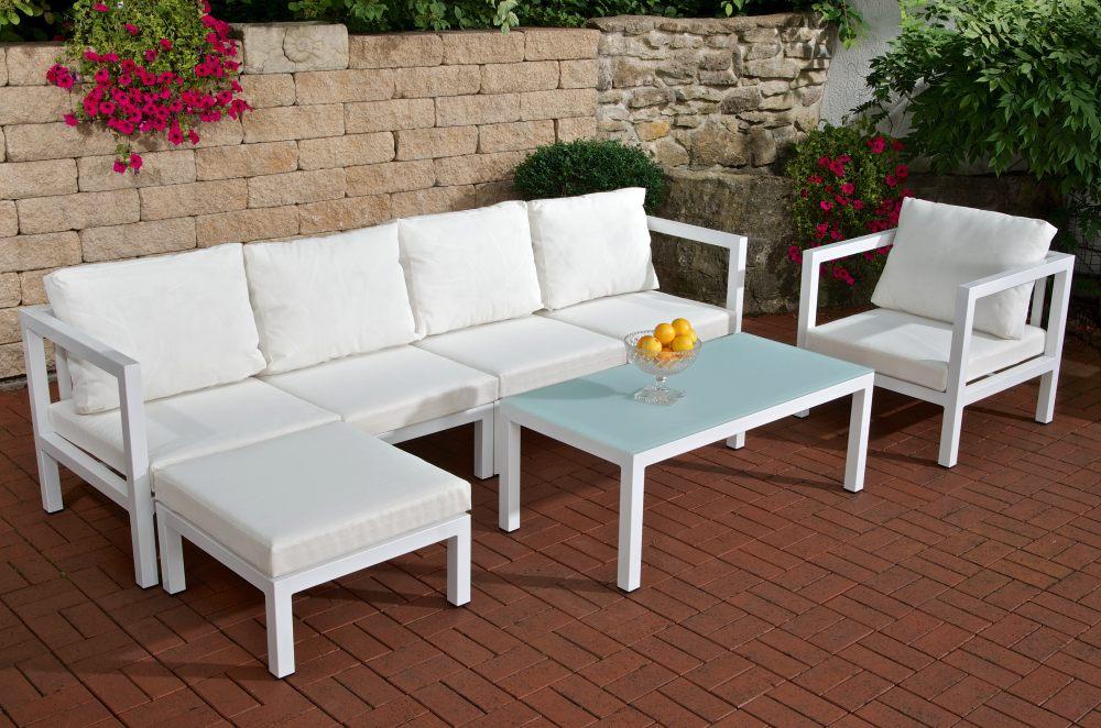 vitus living gartenm bel sitzgruppe alu neu polster set lounge gartenset stuhl ebay. Black Bedroom Furniture Sets. Home Design Ideas