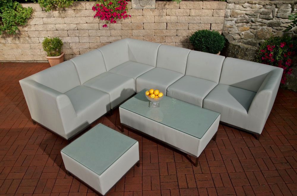 metis lounge set gartenm bel sofa lounge tisch neu couch kunstleder gartenset ebay. Black Bedroom Furniture Sets. Home Design Ideas