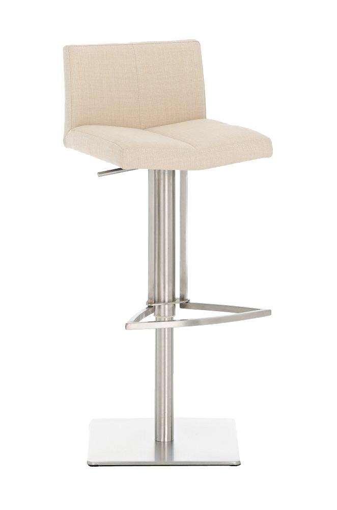 Design barhocker aus edelstahl mit stoff sitz neu 100 for Design barhocker edelstahl