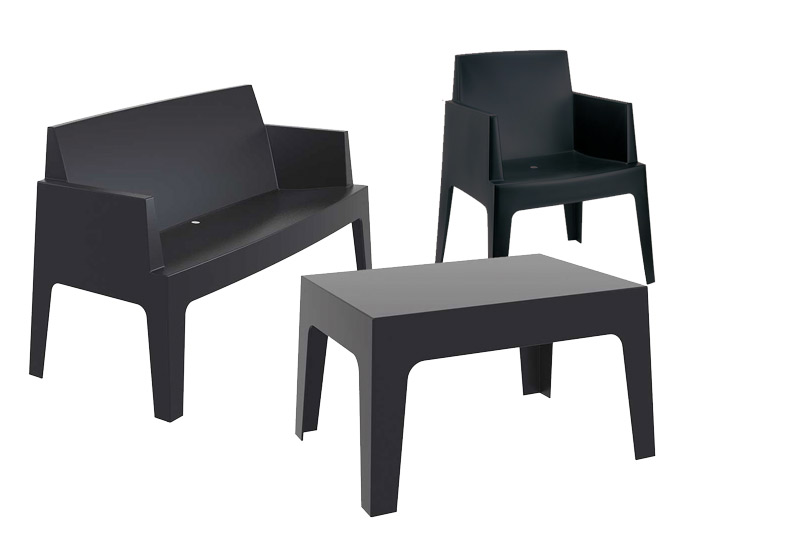 sitzgruppe box gartenm bel stapelbar gartenset design kunststoff wetterfest neu ebay. Black Bedroom Furniture Sets. Home Design Ideas