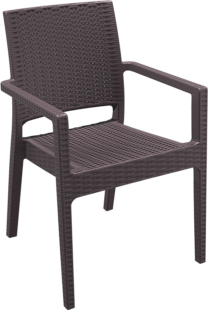 garten stuhl rattan sessel poly rattan optik kunststoff stuhl stapelbar. Black Bedroom Furniture Sets. Home Design Ideas