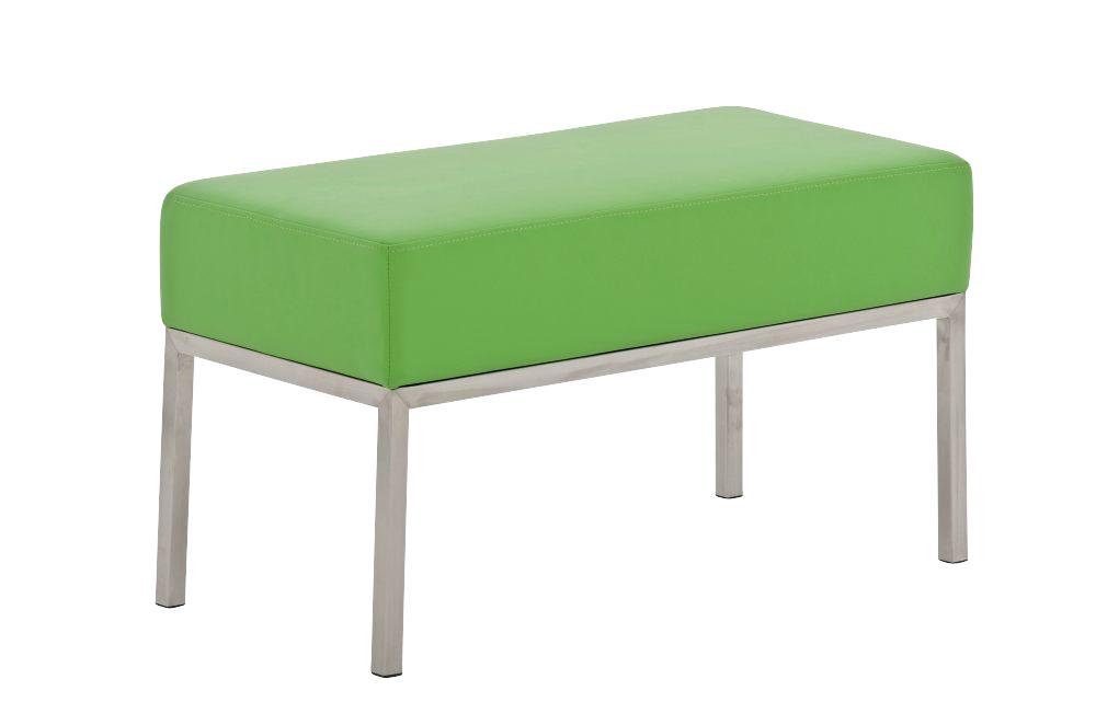 2er sitzbank lamega edelstahl besucherbank wartebank bank flur 80x40 cm ebay. Black Bedroom Furniture Sets. Home Design Ideas