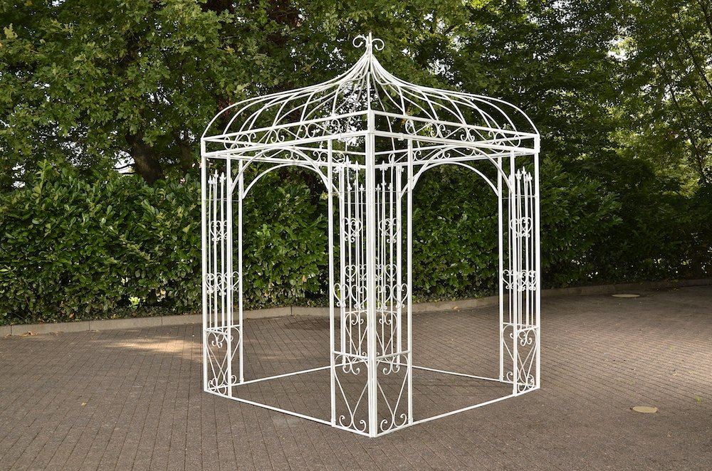 romantischer eisenpavillon manja gazebo rosenspalier eckig. Black Bedroom Furniture Sets. Home Design Ideas
