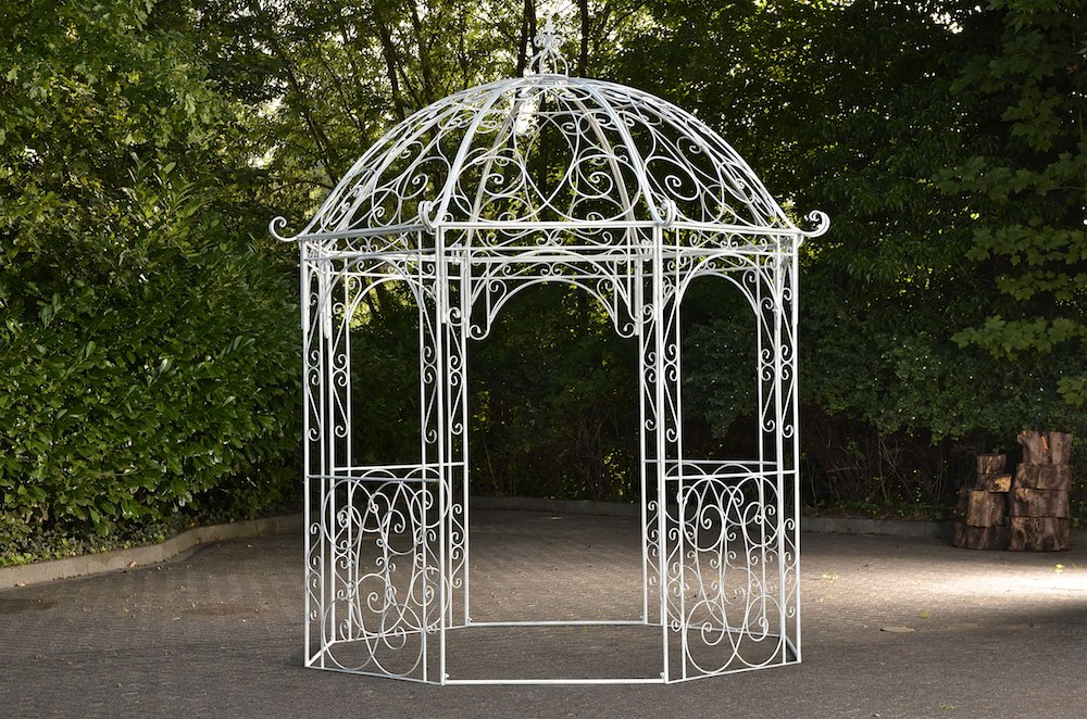 romantischer eisenpavillon leila gazebo rosenspalier eckig. Black Bedroom Furniture Sets. Home Design Ideas