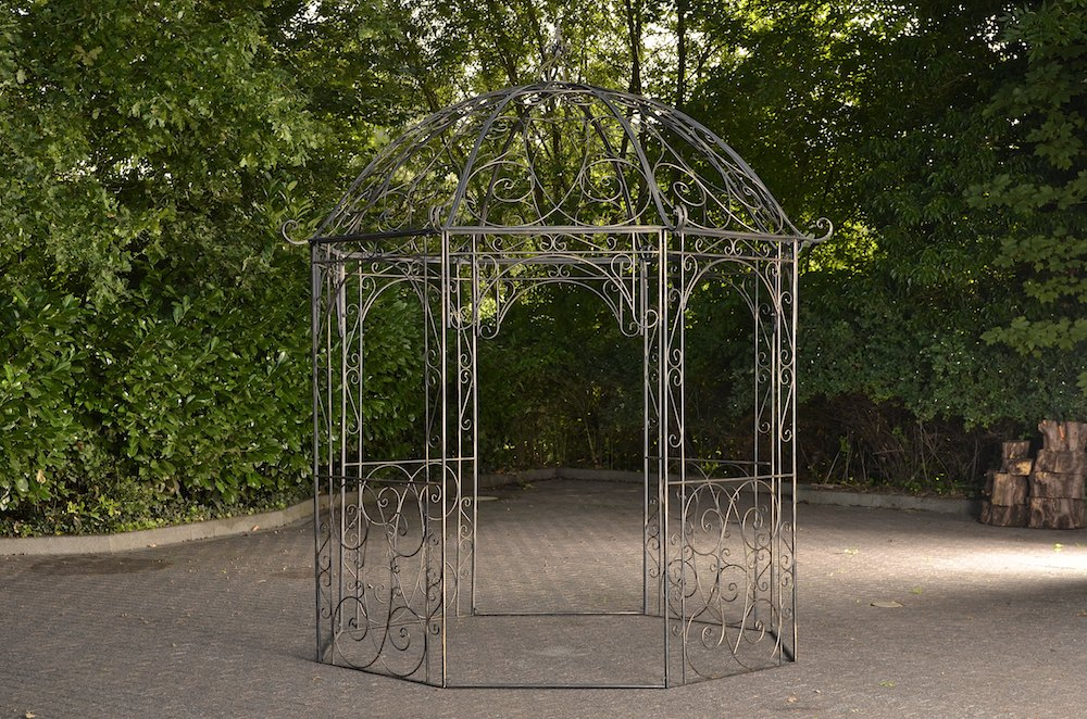 romantischer eisenpavillon leila gazebo rosenspalier eckig pavillion pergola neu ebay. Black Bedroom Furniture Sets. Home Design Ideas