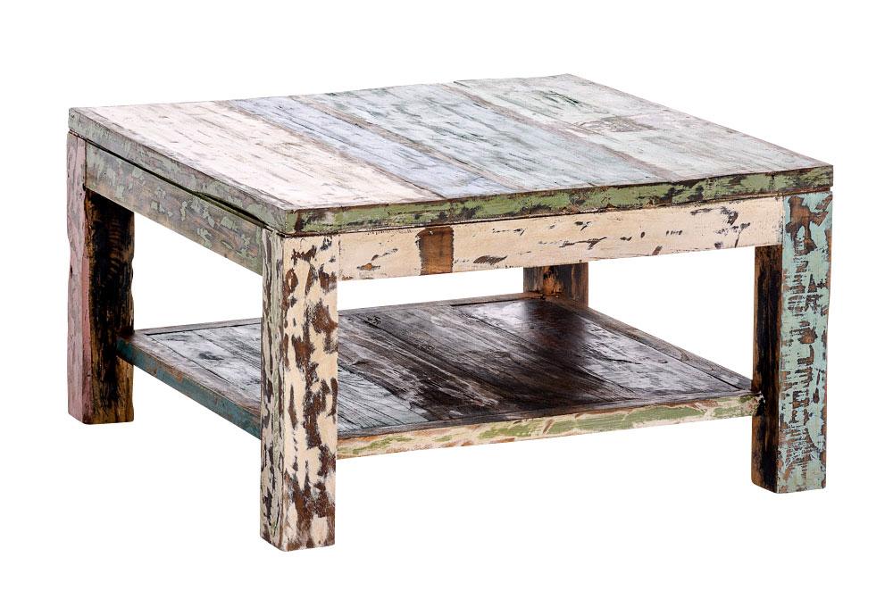 teakholz couchtisch vincent bunt sofatisch wohnzimmertisch. Black Bedroom Furniture Sets. Home Design Ideas