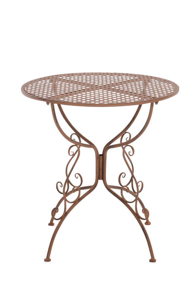 Table amanda round garden patio outdoor furniture metal vintage shabby antique ebay Metal patio furniture vintage