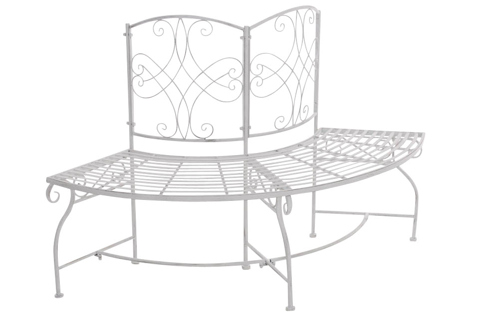 Bench Lorena Corner Garden Patio Park Furniture Metal Shabby Chic Antique Look Ebay