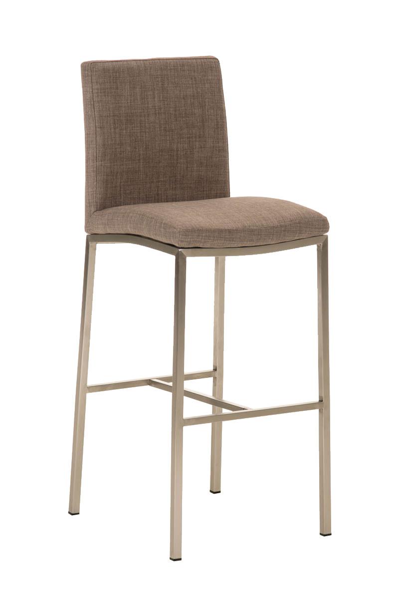 acier inoxydable tabourets de bar freeport tissu choix de couleur bar chaise de comptoir de bar. Black Bedroom Furniture Sets. Home Design Ideas