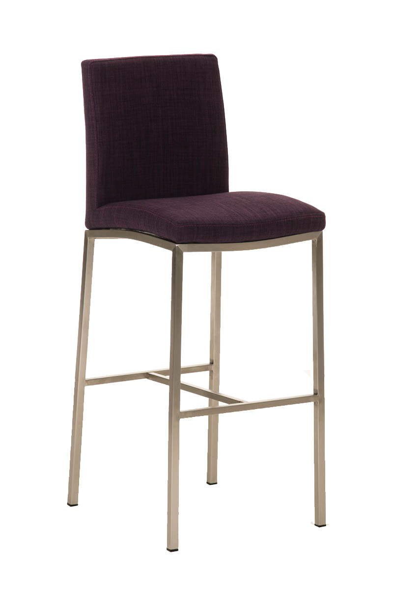 Bar Stool FREEPORT Tweed Fabric Steel Kitchen Breakfast Pub Chair Seat Design