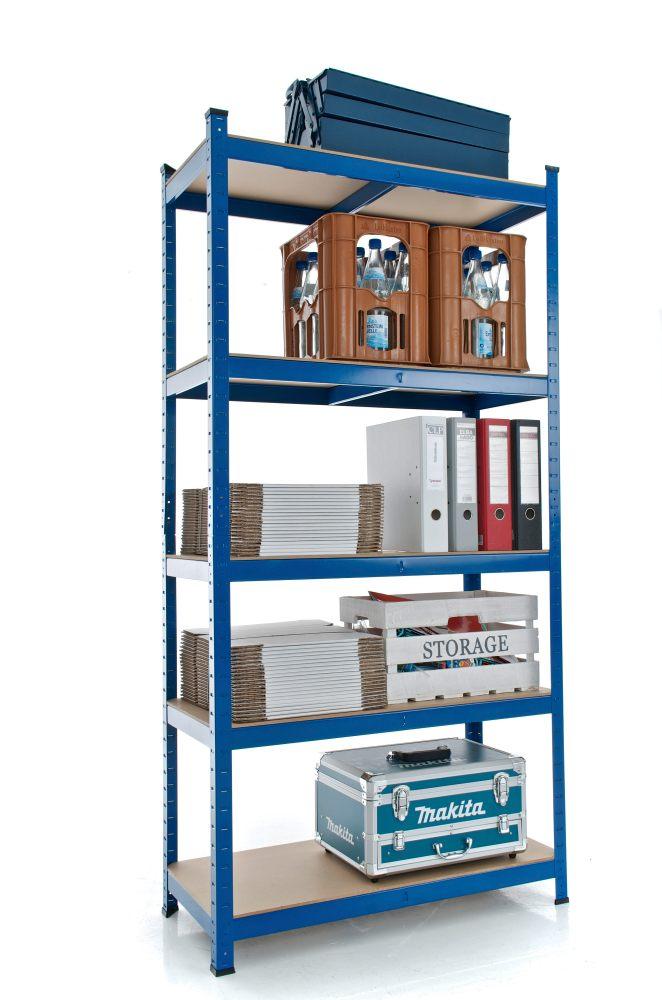 Estanteria metalica para garaje trasteros casa 180x90x40 baldas madera blanco ebay - Estanterias para garaje ...
