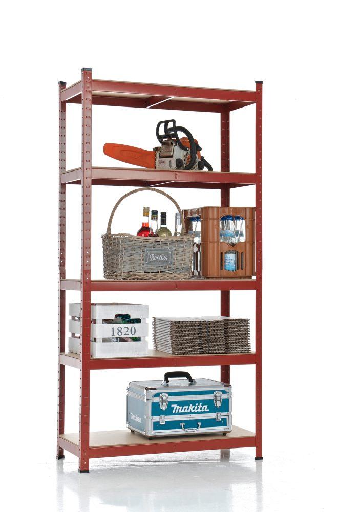 Estanteria metalica para garaje trasteros casa 180x90x40 baldas madera ebay - Estanterias para garaje ...