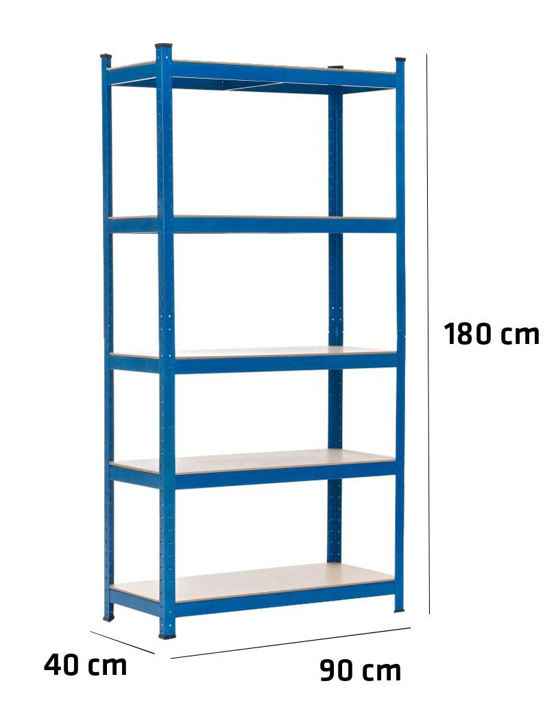 Estanteria metalica para garaje trasteros casa 180x90x40 - Estanterias para garaje ...