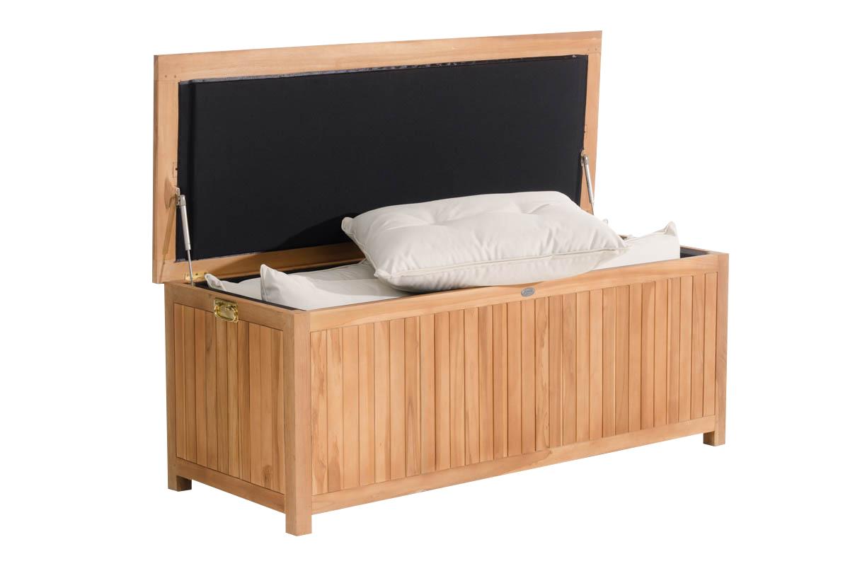 gartenbox cp453 gartentruhe kissenbox 160x62x60 teak. Black Bedroom Furniture Sets. Home Design Ideas