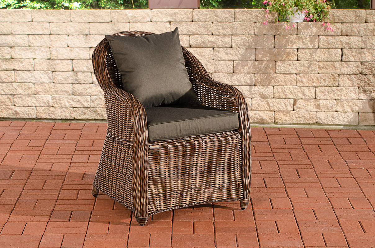 stavanger sitzgruppe farbwahl braun meliert polyrattan gartenm bel balkon tisch ebay. Black Bedroom Furniture Sets. Home Design Ideas
