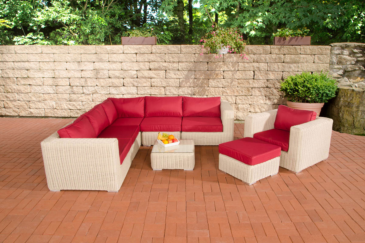 poly rattan gartenm bel lounge set ariano perlwei garten. Black Bedroom Furniture Sets. Home Design Ideas