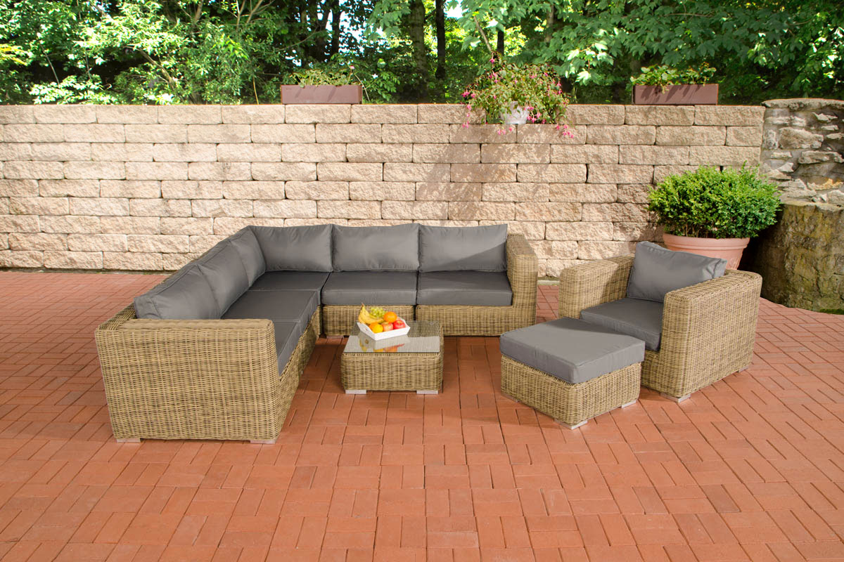 poly rattan gartenm bel lounge set ariano natura garten loungem bel 5 farben neu ebay. Black Bedroom Furniture Sets. Home Design Ideas