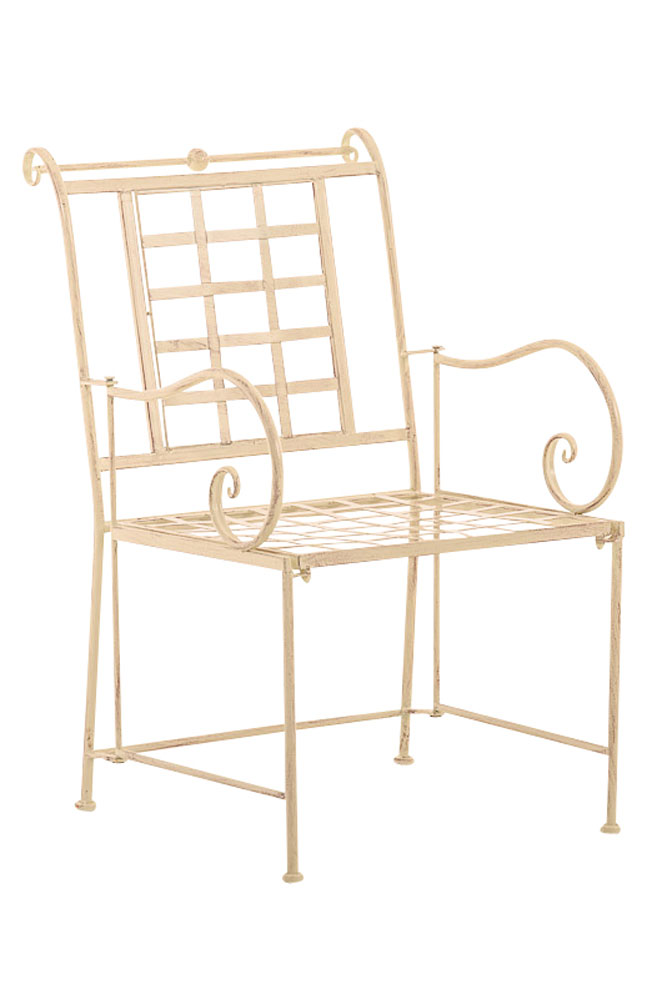 Chair helen garden patio outdoor seat furniture aged metal vintage shabby chic ebay - Shabby chic outdoor furniture ...