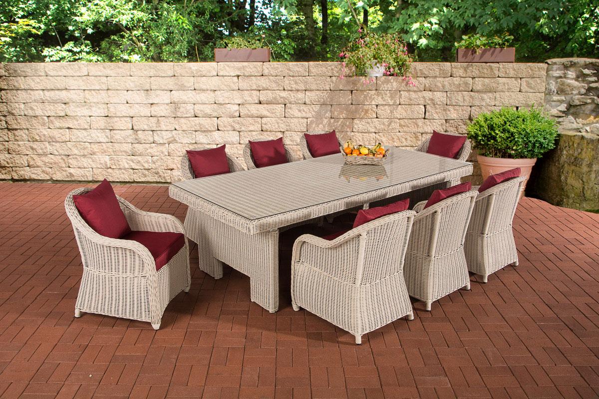 Sitzgruppe CANDELA XL weiß Gartengarnitur Polyrattan ...