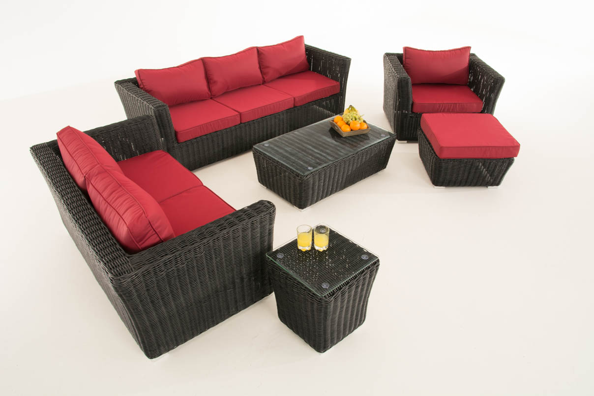 poly rattan gartengarnitur edmonton sofa garnitur lounge. Black Bedroom Furniture Sets. Home Design Ideas