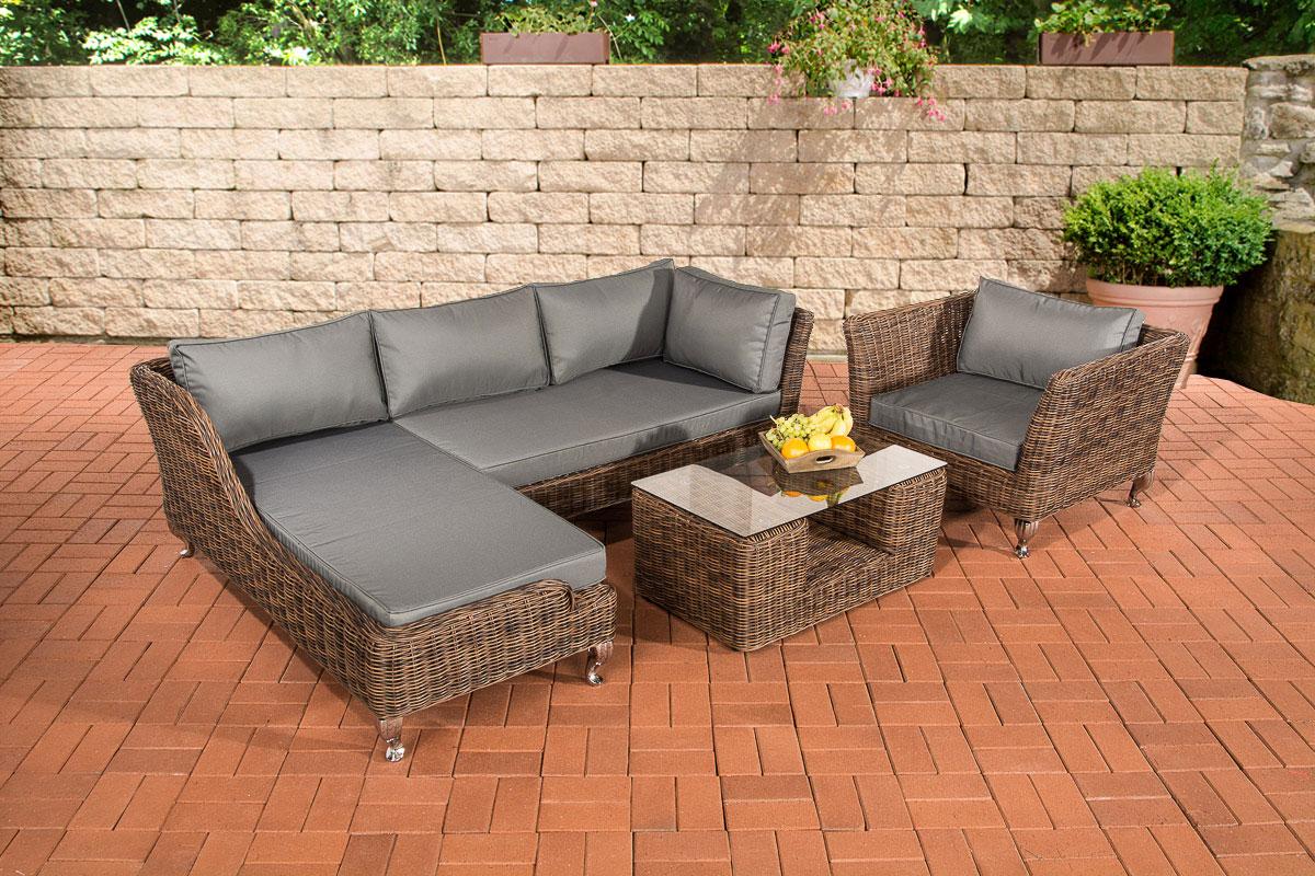 polyrattan gartengarnitur moss braun meliert loungem bel. Black Bedroom Furniture Sets. Home Design Ideas