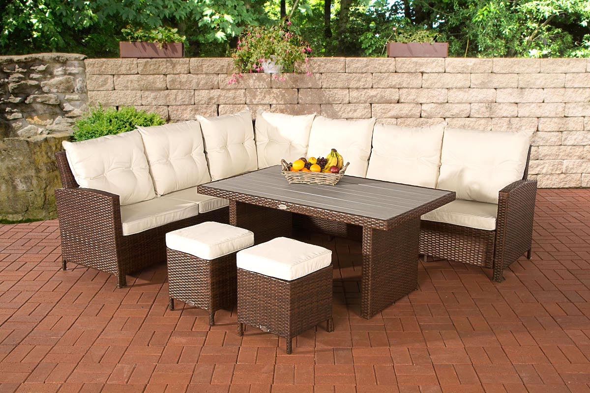 poly rattan gartengarnitur vicenta garten sitzgruppe gartenm bel set essgruppe ebay. Black Bedroom Furniture Sets. Home Design Ideas