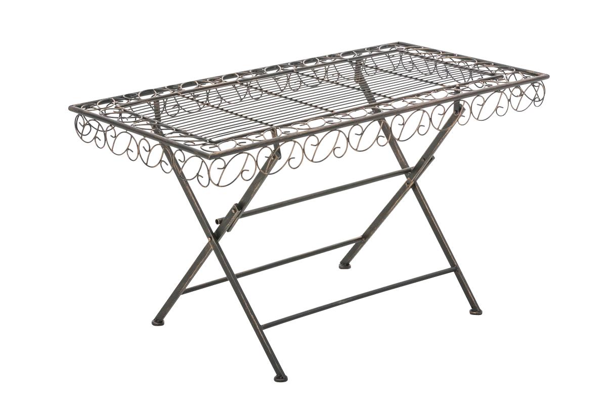 gartentisch josefa beistelltisch eisentisch tisch metalltisch klappbar vintage ebay. Black Bedroom Furniture Sets. Home Design Ideas