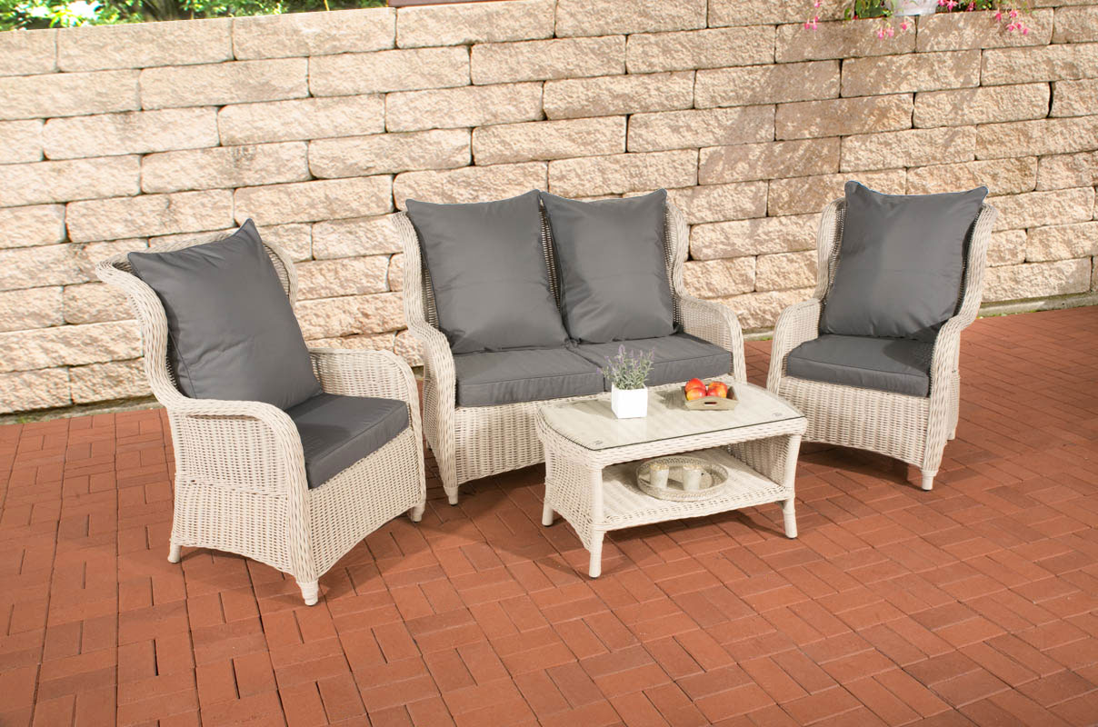 gartengarnitur toledo perlwei lounge gartenset polyrattan sitzgruppe garnitur ebay. Black Bedroom Furniture Sets. Home Design Ideas