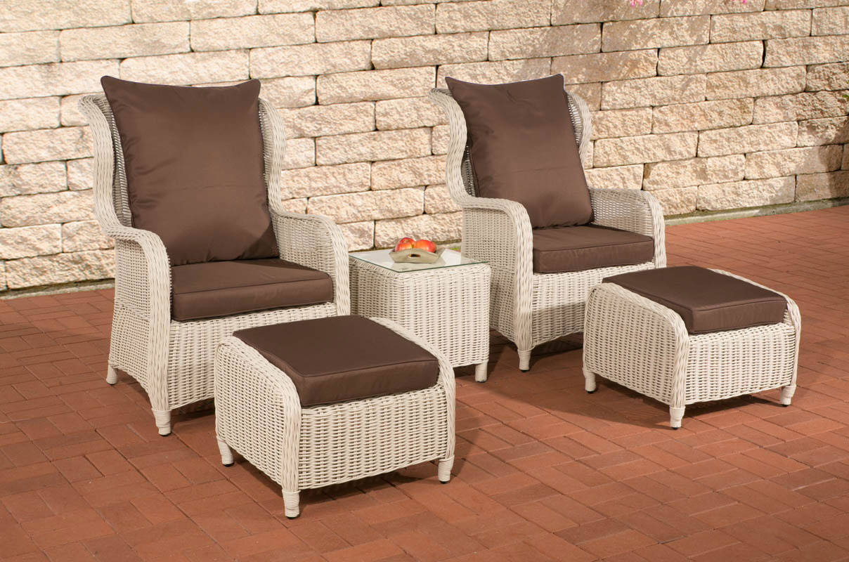 poly rattan garten sitzgruppe treviso perlwei 5mm rund sessel gartenm bel neu ebay. Black Bedroom Furniture Sets. Home Design Ideas