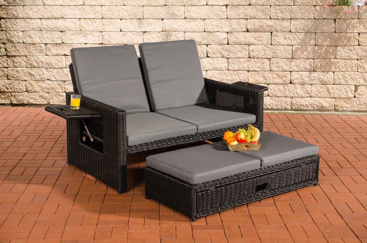 poly rattan lounge sofa ancona 5mm rund rattan schwarz. Black Bedroom Furniture Sets. Home Design Ideas