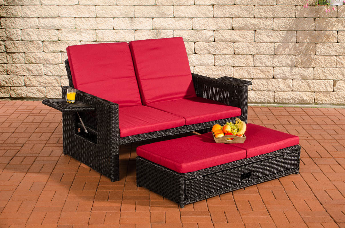 poly rattan lounge sofa ancona 5mm rund rattan schwarz sonnenliege gartensofa ebay. Black Bedroom Furniture Sets. Home Design Ideas