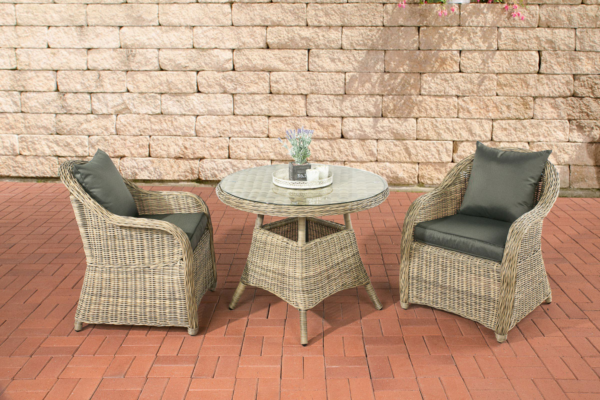poly rattan sitzgruppe balao natura garten balkonset garnitur rattan gartenm bel ebay. Black Bedroom Furniture Sets. Home Design Ideas