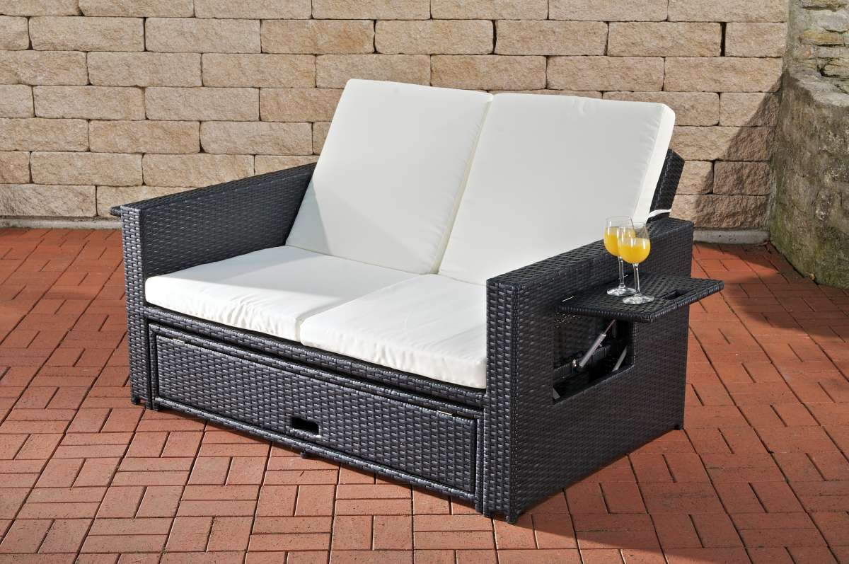 hl polyrattan sofa ancona schwarz lounge gartenm bel gartensofa gebraucht ebay. Black Bedroom Furniture Sets. Home Design Ideas