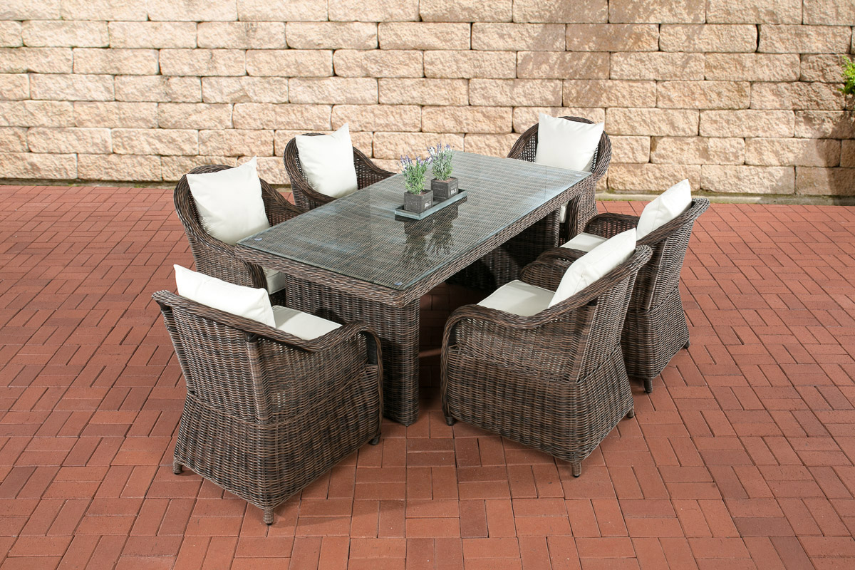 essgruppe lavello braun gartenm bel gartengarnitur terasse balkon sessel tisch ebay. Black Bedroom Furniture Sets. Home Design Ideas