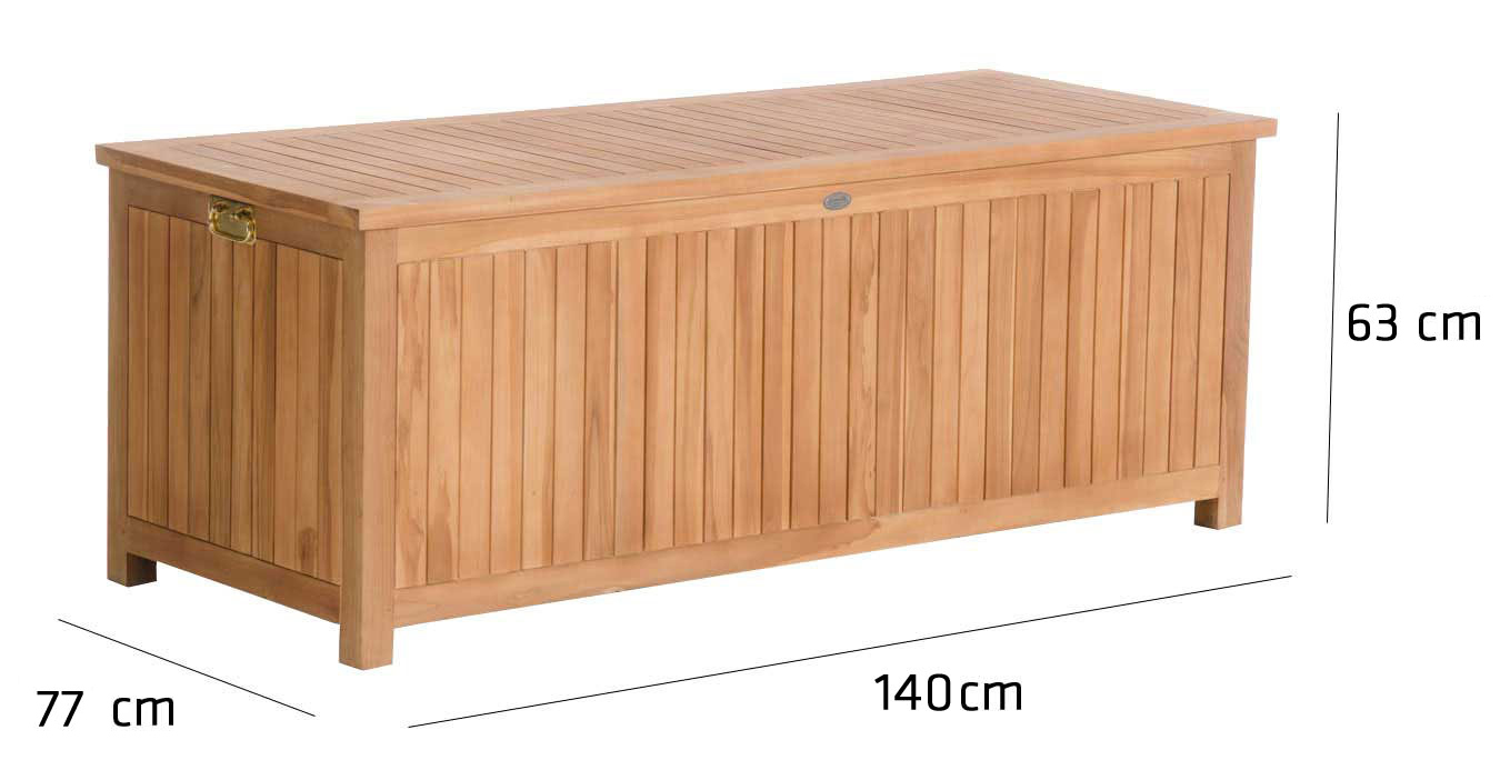 teak gartenbox odessa auflagenbox kissenbox holz. Black Bedroom Furniture Sets. Home Design Ideas