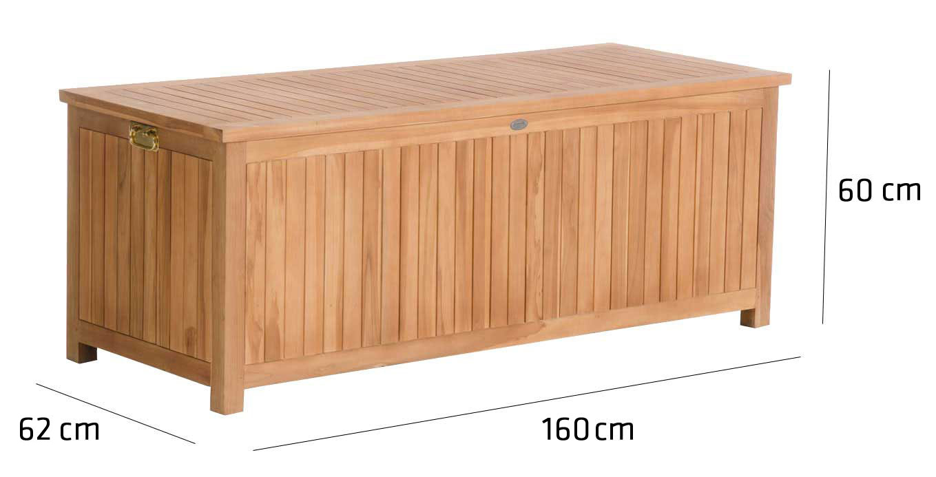 teak gartenbox odessa auflagenbox kissenbox holz aufbewahrungstruhe ger tebox ebay. Black Bedroom Furniture Sets. Home Design Ideas