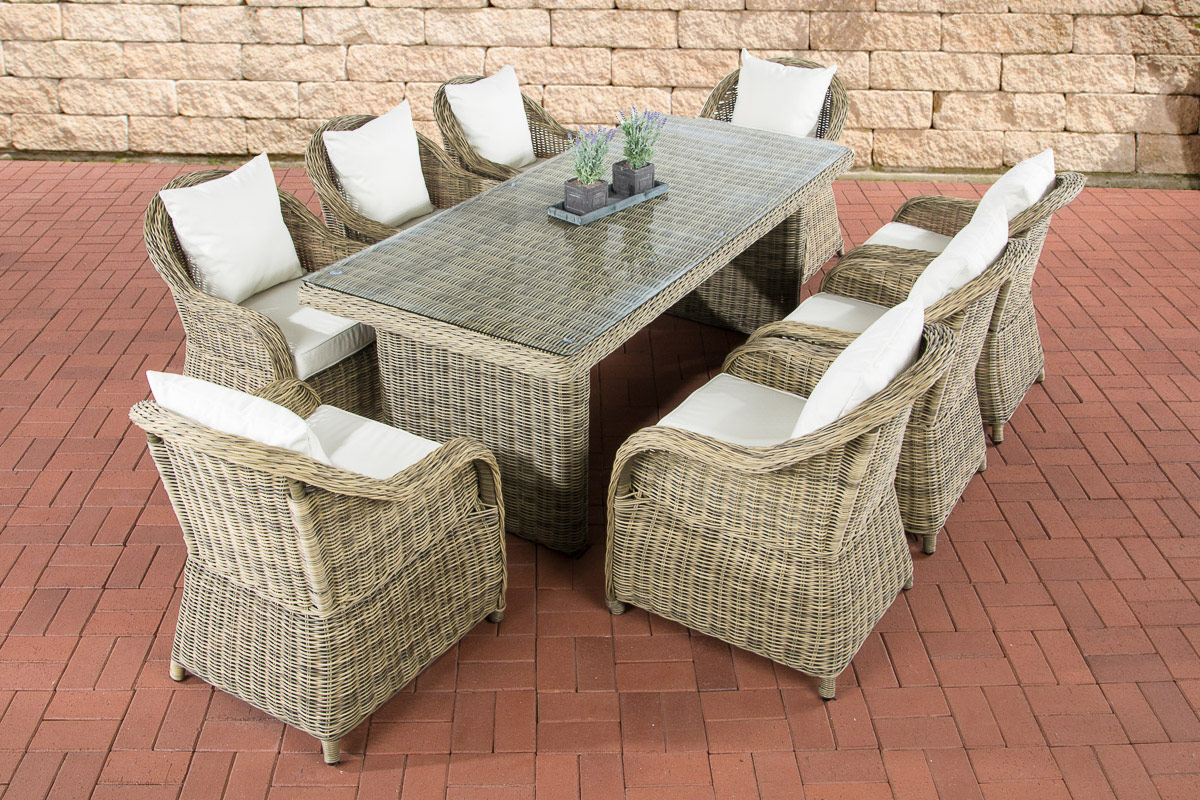 polyrattan garten sitzgruppe lavello xl natura essgruppe. Black Bedroom Furniture Sets. Home Design Ideas