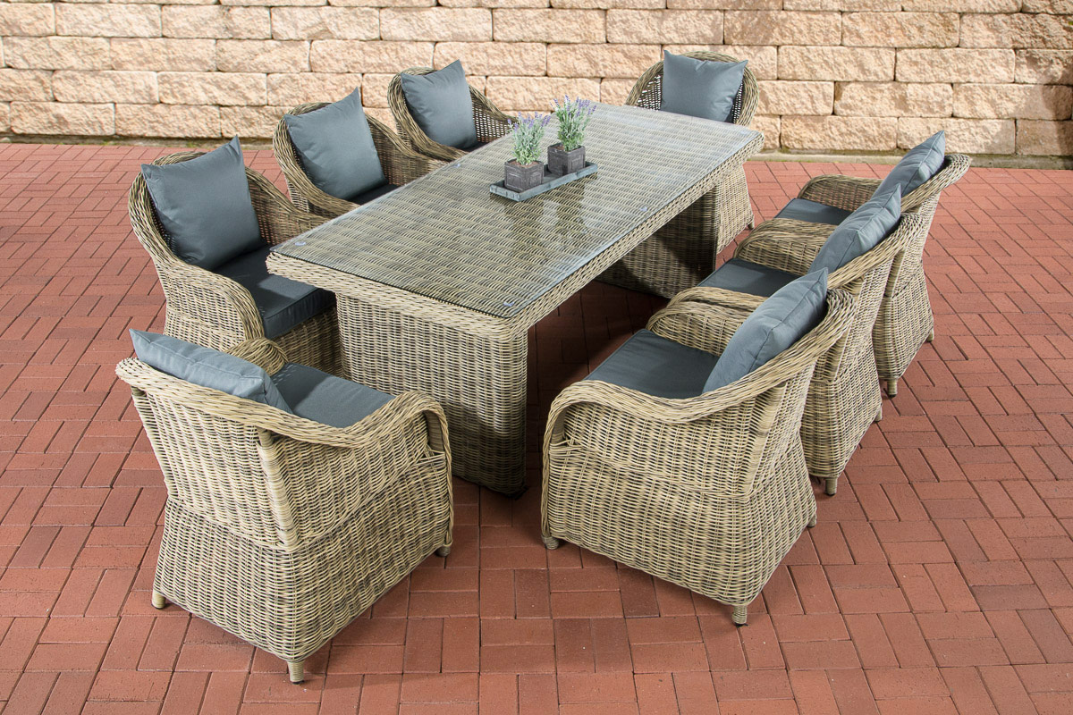 polyrattan garten sitzgruppe lavello xl natura essgruppe garnitur 8 personen neu ebay. Black Bedroom Furniture Sets. Home Design Ideas