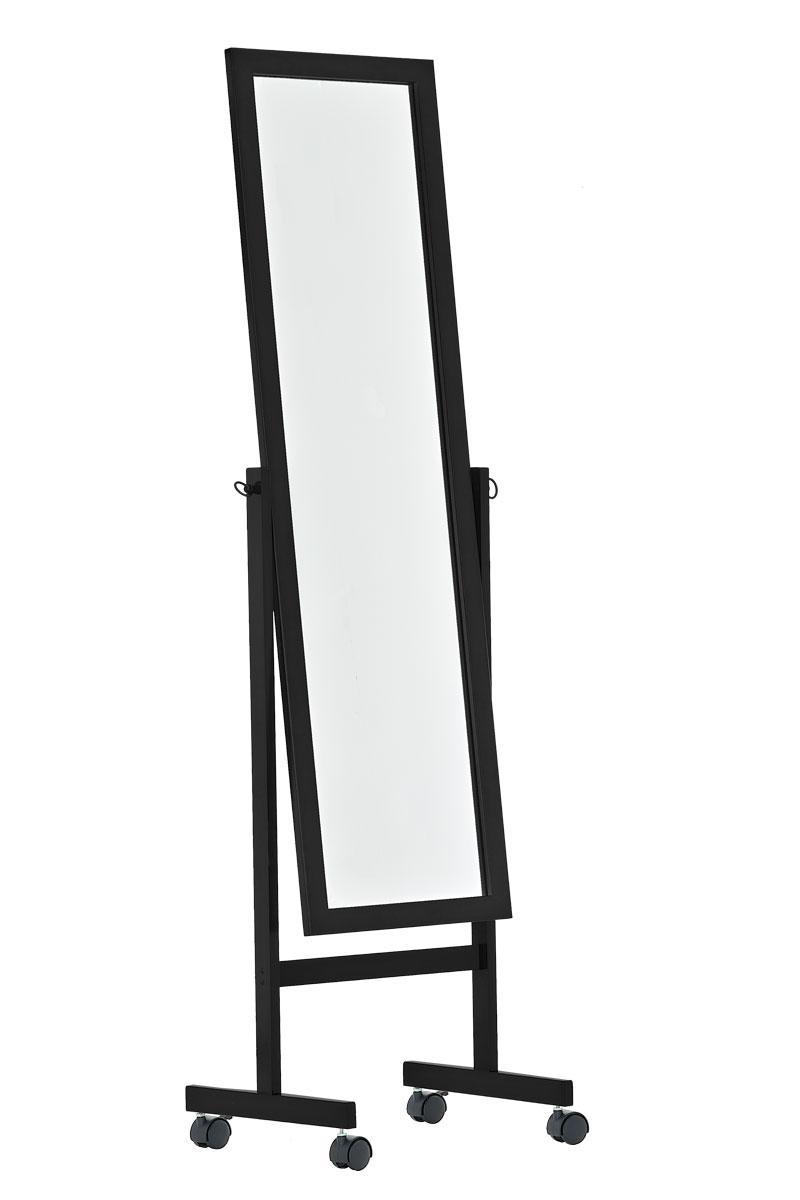 standspiegel yolanda schwarz spiegel ankleidespiegel ganzk rper boden stehend ebay. Black Bedroom Furniture Sets. Home Design Ideas