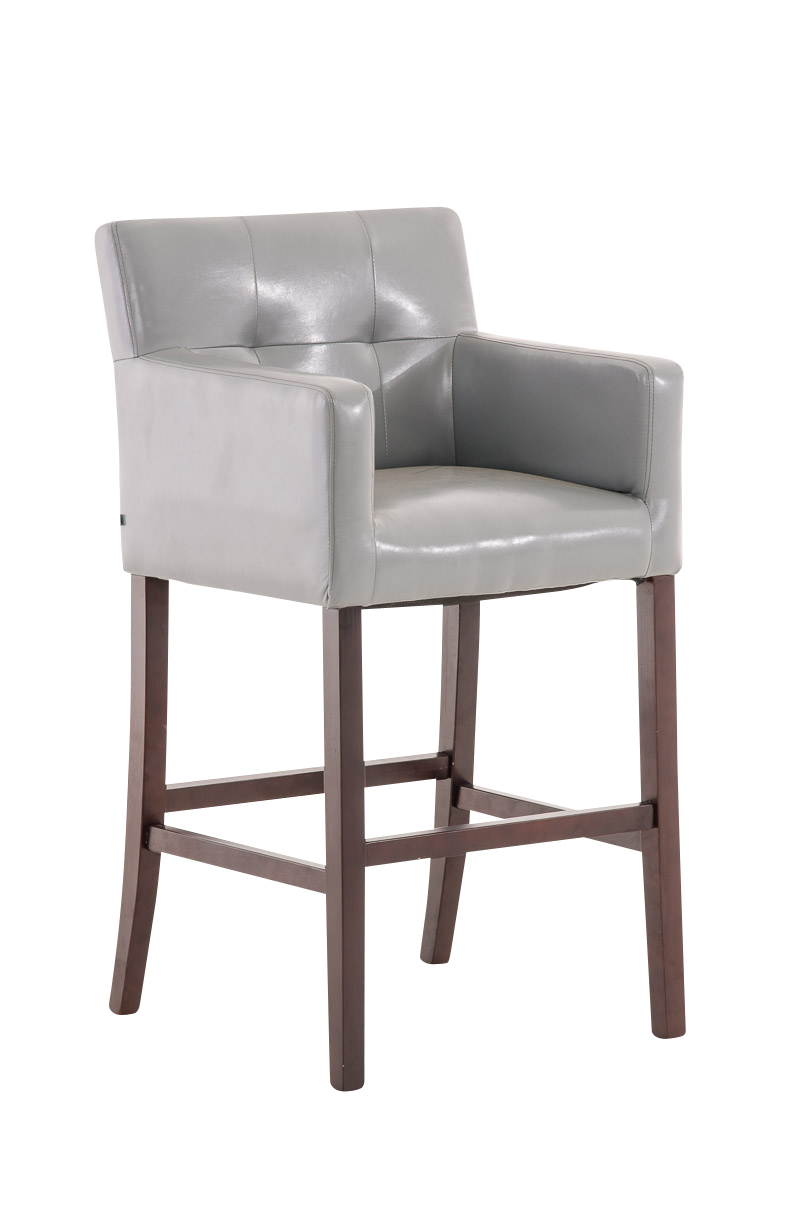 Bar Stool MAORI Brown Leather Breakfast Kitchen Barstools ...