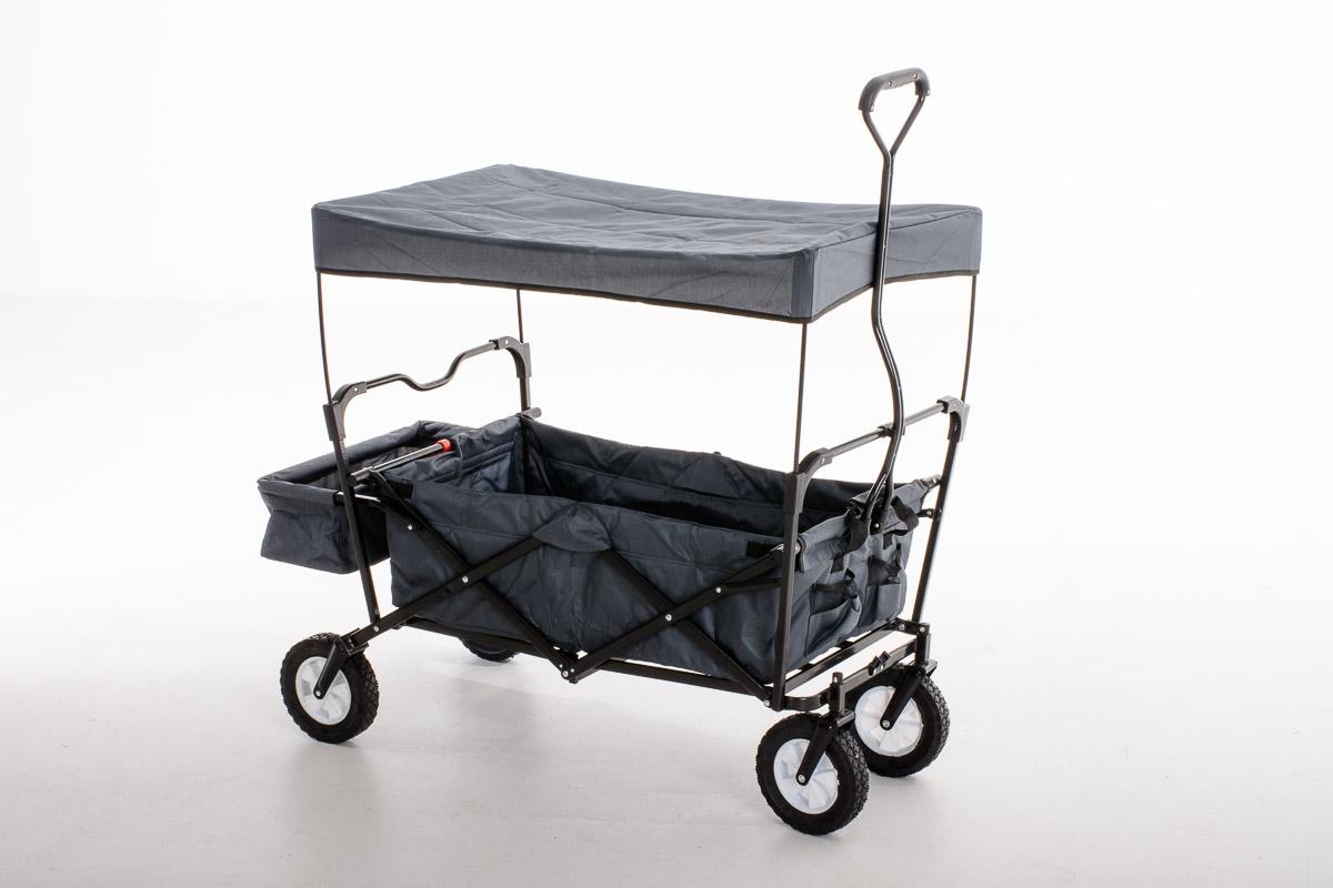bollerwagen faltbar mit dach handwagen transportkarre klappbar gartenwagen ebay. Black Bedroom Furniture Sets. Home Design Ideas