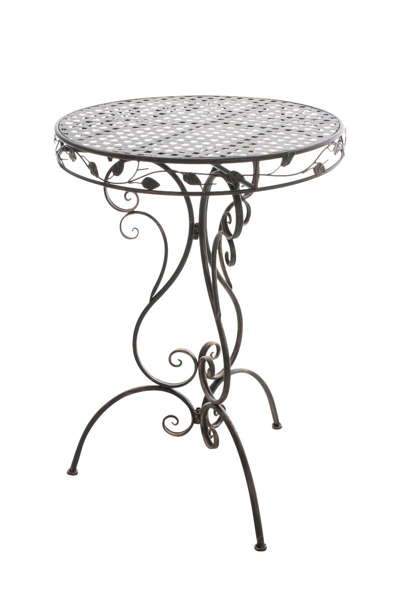 Table jardin ALDORA ronde romantique ancienne métal vintage ...