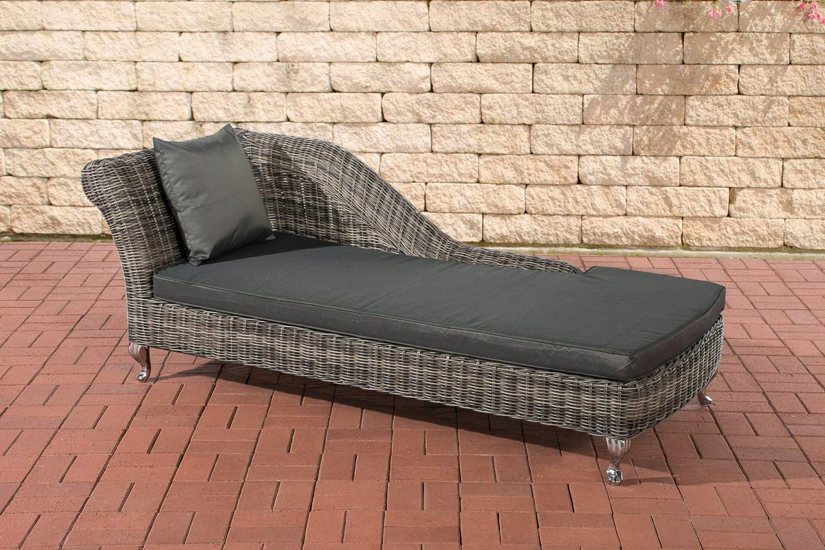 Poly Rattan Recamiere Chaise longue SAVANNAH 5mm RUND ...